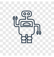 robot concept linear icon isolated on transparent vector image vector image