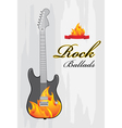 Rock ballads vector image