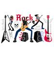 rockers party cartoon musicians vector image vector image