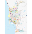 san diego administrative map vector image vector image