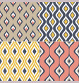 seamless geometric ogee motif textile background vector image vector image