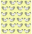 Seamless pattern with cocks on a yellow background vector image vector image