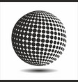 set abstract halftone 3d spheres 16 vector image vector image