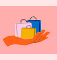 shopping or sale or delivery concept with trendy vector image vector image