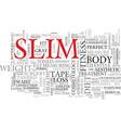 slim word cloud concept vector image vector image