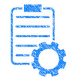 smart contract gear icon grunge watermark vector image vector image