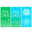Spring sale banners 001 vector image vector image