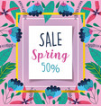 spring sale discount offer message lettering vector image vector image