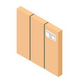 square box icon isometric style vector image vector image