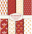 summer patterns seamless backgrounds vector image vector image