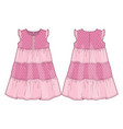 summer pink dress vector image vector image