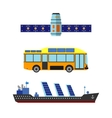 Sun energy transport vector image vector image