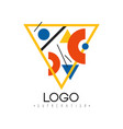 suprematism logo abstract creative design element vector image