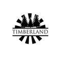 timberland green logo designs simple modern vector image