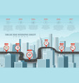 timeline infographic road concept on similar new vector image