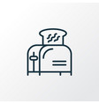 toaster icon line symbol premium quality isolated vector image vector image