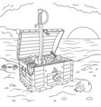 treasure chest ashore vector image vector image