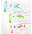 Website paper page design template with icons and vector image vector image