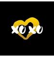 Xoxo Heart Handwritten Calligraphy vector image vector image