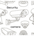 set of security camera pattern vector image