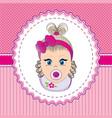 label baby girl vector image