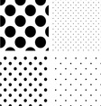 Polka dot seamless pattern set vector image