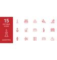 15 scientific icons vector image vector image