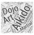 aikido dojo Word Cloud Concept
