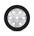 alloy wheel with tyre vector image vector image