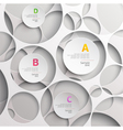 Background of white circles vector image vector image