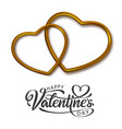 beautiful hand lettering valentines day vector image vector image