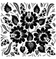 Black flowers on a white background vector | Price: 1 Credit (USD $1)