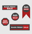black friday sale design elements black friday vector image