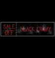 black friday sale off horizontal poster background vector image vector image