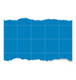 blue empty sheet torn ripped paper design vector image