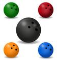 bowling ball vector image vector image