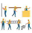 builder and construction zone building vector image