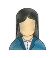 call center woman avatar vector image
