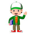 cartoon male teacher vector image vector image