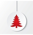 christmas ball with tree cut the paper
