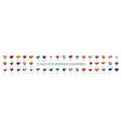 collection flags europe in form vector image vector image