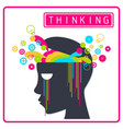 Colorful Creative Thinking Brain vector image