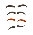 comic eyebrow expression set vector image