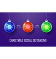 covid-19 keep social distance merry christmas vector image