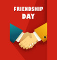 day friendship poster vector image vector image