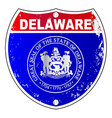 delaware interstate sign vector image vector image