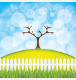 easter eggs hanging on the tree vector image