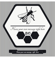 Emblem for honey10 vector image vector image