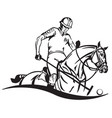 equestrian polo emblem vector image vector image