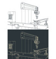 factory line drawings vector image